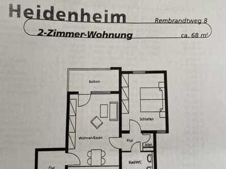 Sanierte EG-Wohnung mit zwei Zimmern sowie Balkon und Einbauküche in Heidenheim an der Brenz