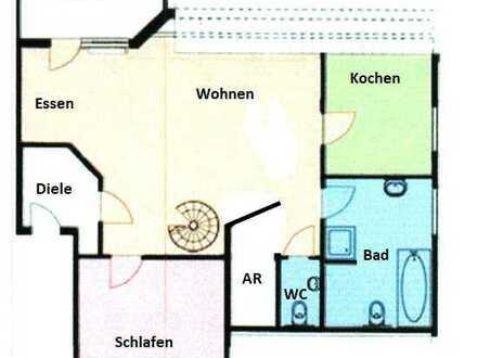 Außergewöhnliche gepflegte helle teilmöblierte 2-Zimmer Wohnung zzgl. Galerie in Fürth/Stadeln