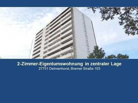 Über den Dächern von Delmenhorst: 2-Zimmer-ETW mit Balkon/Loggia - PROVISIONSFREI