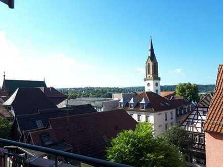 Wunderschöne drei Zimmer Wohnung mit toller Aussicht mitten in der Brettener Altstadt