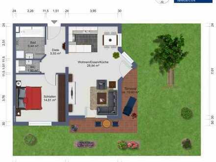 ***Erdgeschosswohnung im Hang mit Terrasse und Garten - als Kapitalanlage***