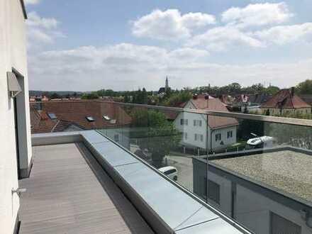 Im Penthouse über den Dächern von Schrobenhausen wohnen
