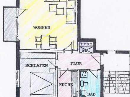 Gepflegte 2-Raum-Hochparterre-Wohnung mit Balkon und Einbauküche in Regensburg