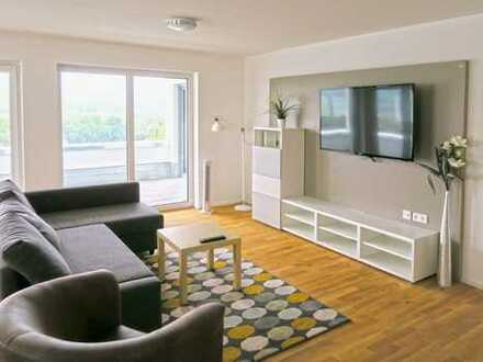 Luxeriöse Wohnung (Wohnbüro) mit überwältigender Aussicht ohne Kaution und ohne Mindestmietdauer