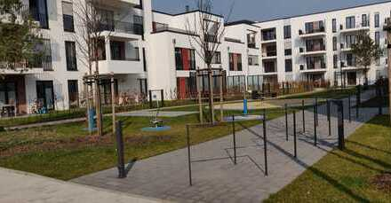 Exklusive, helle 3-Zimmer-Neubauwohnung mit Balkon und Einbauküche in Düsseldorf-Heerdt