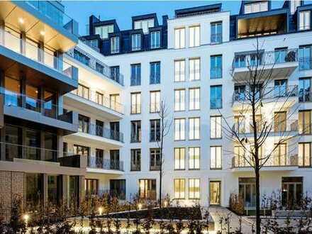 Split-Level STADTLEBEN am Friedensengel. Terrassenwohnung mit Souterrain-Atelier in Traumlage.