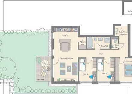4-Zimmer-Wohnung mit großem Gartenanteil und herrlicher Terrasse