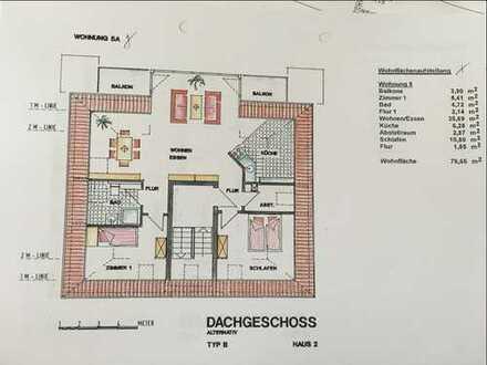 Gepflegte 3,5-Zimmer-DG-Wohnung mit Balkon und Einbauküche in Porta Westfalica