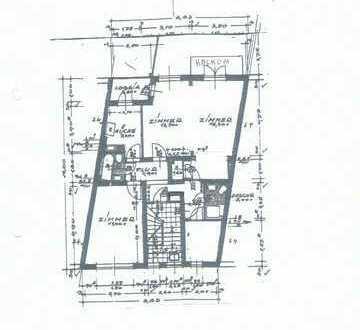 Gepflegte 3-Zimmer-Wohnung mit Balkon und Einbauküche in Bremen