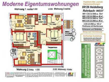 Heidelberg Rohrbach-West - 2,0 ZKB Etagenwohnung mit Balkon attraktive Wohnlage (Projekt)