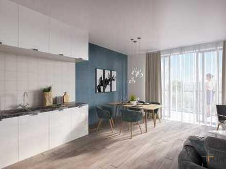 Neubau 3 Zimmer Dachgeschoss-Wohnung mit großem Balkon