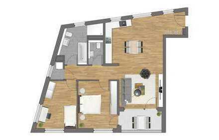Erstbezug: Traumhaft geschnittene 3-Zimmer-Wohnung
