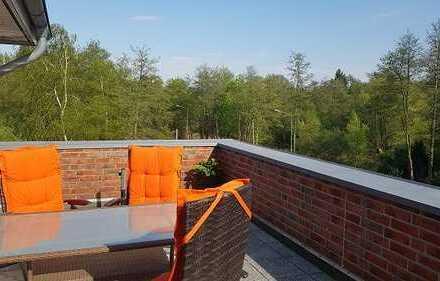 WOHNEN im Penthouse im Herzen von Syke….. mit 28 m² Dachterrasse u. Fahrstuhl!