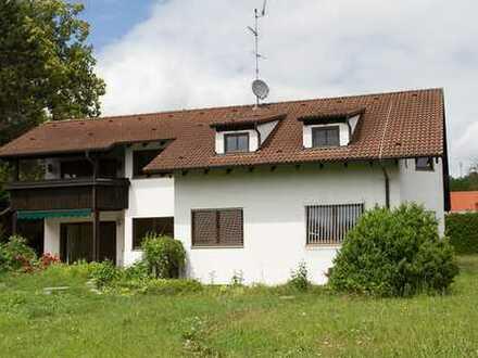 Feldafing, gr. 6 Zimmerwohnung mit Süd Garten, Kachelofen, Hobbyraum