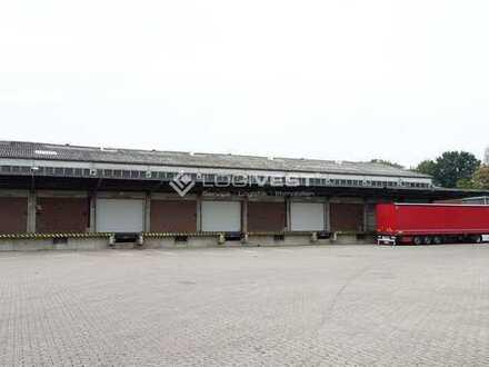 Lagerhalle mit Überladebrücken im Westen Münchens