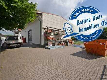 DIETZ: 3-Parteienhaus + Gewerbehalle in Messel! Nur 8 KM von Darmstadt entfernt!