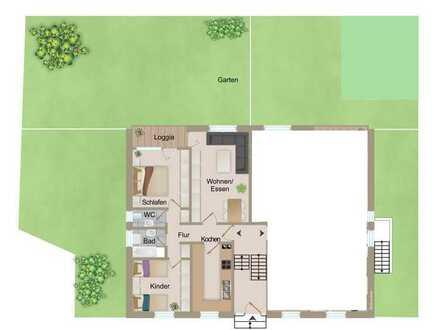 3 Zimmer-Eigentumswohnung (EG) mit Loggia, Garten + PKW-Stellplatz von Kandel