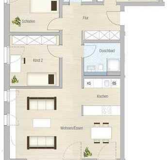 Exklusive 4-Zimmer-Wohnung mit großen Balkon auf der Südhöhe! Fertigstellung Oktober 2019!