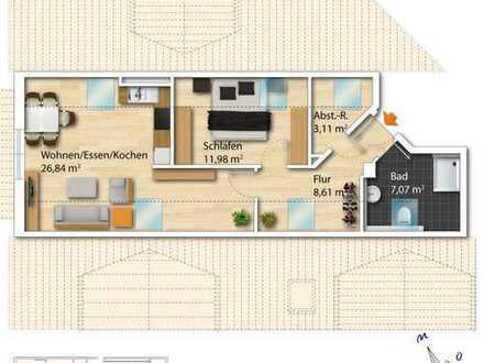 gemütliche 2-ZKB Dachgeschosswohnung inkl. Tiefgaragenplätze