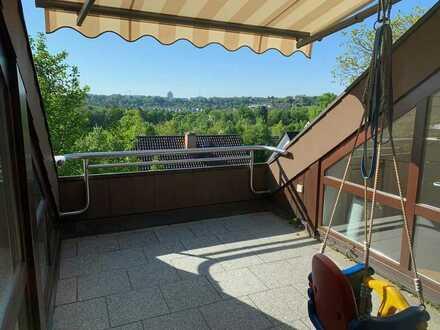 """Südhang-Lage - Dachgeschoss-Maisonette - Balkon+Dachterrasse - inkl. 2-Zimmer-Büro/""""Wohnung"""" im UG"""