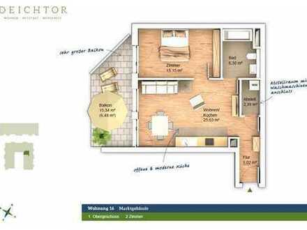 Neuwertige 2 Zimmer mit Terrasse in der Neustadt!