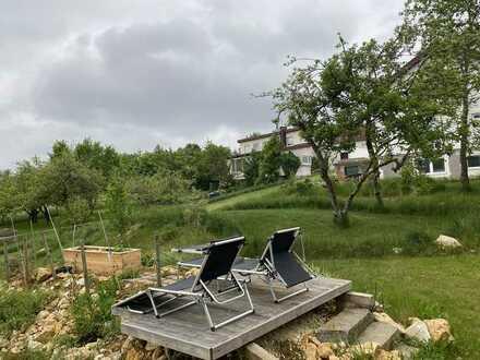 Ortsrand mitten im Grünen, Einfamilienhaus provisionsfrei mit herrlichem Garten