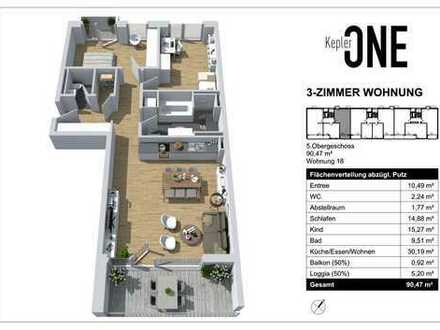 3-Zimmer Neubauwohnung in bester Lage