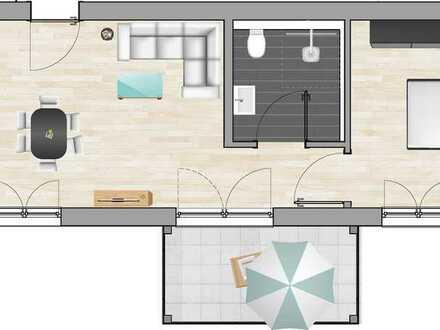Erstbezug mit Balkon: exklusive 2-Zimmer-Wohnung in Illertissen