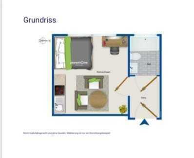 Appartement Einzimmerwohnung in Bestlage
