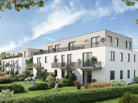Modernes Penthouse mit Blick ins Grüne