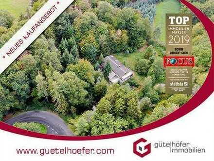 Privatsphäre gewünscht? Einfamilienhaus als Refugium in Alleinlage mit 11.700m² Wald und 6 Teichen