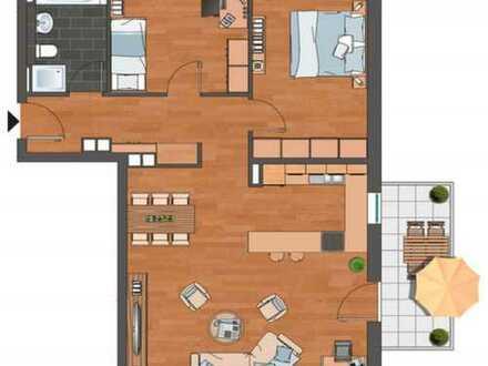 Sehr schöne 3-Zimmer-EG-Wohnung mit Balkon in Wiesbaden Südost