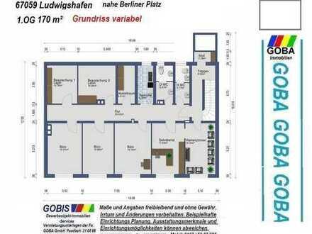 Lu City Büro o. Praxisräume ca. 170 m² modernes Raumkonzept nahe Berliner Platz