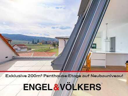 Exklusive 200m² Penthouse-Etage auf Neubauniveau!