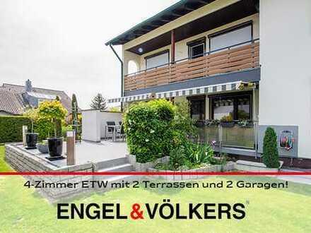 **NEUER PREIS**4-Zimmer ETW mit 2 Terrassen und 2 Garagen!