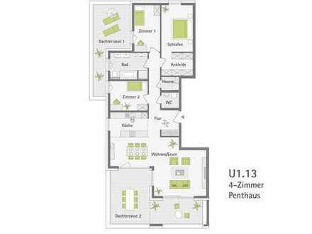 Letzte 4-Zimmer-Penthauswohnung: Baubeginn erfolgt!