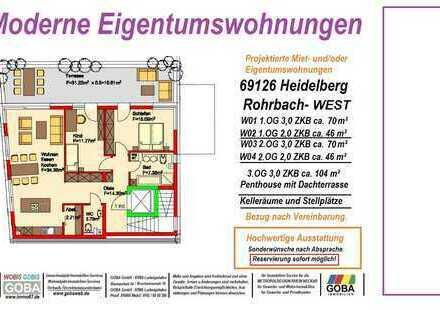 Heidelberg Rohrbach-West - 3,0 ZKB Penthouse Dach-Terrasse attraktive Wohnlage (Projekt)