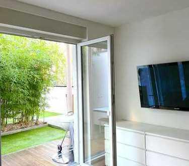 2-Zimmer Erdgeschoss Wohnung mit Einbauküche, Garten und Terrasse in der Kölner Innenstadt Südstadt