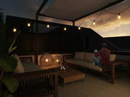 Hoher Wohlfühlfaktor! Perfekte 3-Zimmer-Wohnung mit ca. 32 m² Dachterrasse in guter Lage