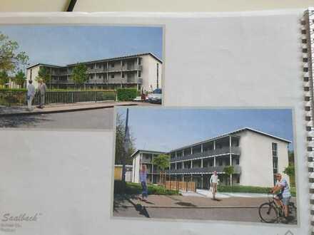 Erstbezug: Betreutes Wohnen: 2-Zimmer-Wohnung mit EBK und Balkon in Karlsdorf; Mindestalter 55 J