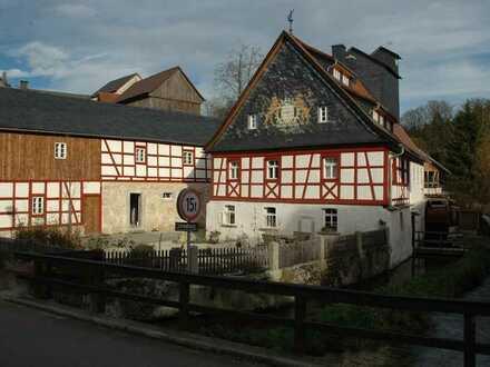 Denkmalgerecht saniertes Mühlenanwesen in der Fränkischen Schweiz im Ort Wonsees