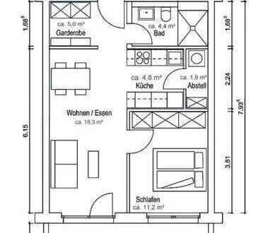 Erstbezug, komplett möblierte 2-Zimmer-Wohnung mit Balkon in Markt Schwaben