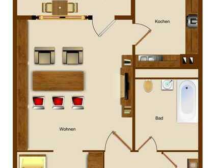 1 Zi.Wohnung in Stolberg auf der Liester mit Balkon zu vermieten!