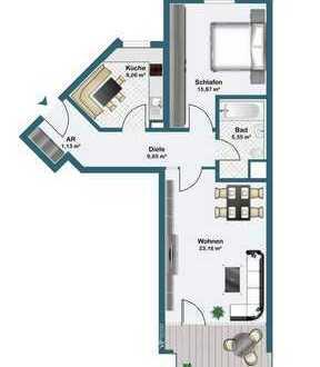 Helle 2-Zimmer-Wohnung am Marienbergpark!