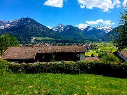 ***Einmalige Gelegenheit!*** Baugrundstück in bester Panoramalage von Oberstdorf