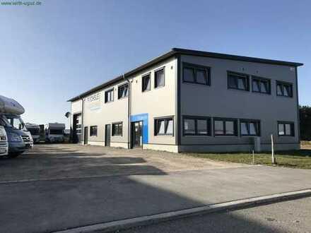 moderne Gewerbehalle 160 m² + Büro 145 m² + 800 m² Aussenfläche