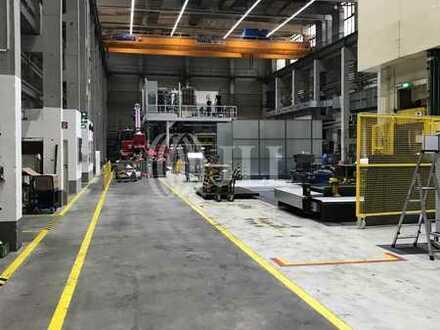 z. Kauf / Miete | Produktionshalle mit Kränen b. 40t, große Zufahrtstore, + Büros