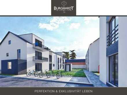 Darmstadt - Wixhausen: 3-Zimmerwohnung (veredelter Rohbau) im 1. Obergeschoss mit Balkon