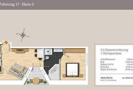 Klein aber Mein! 2,5.-Dachgeschosswohnung in Südausrichtung