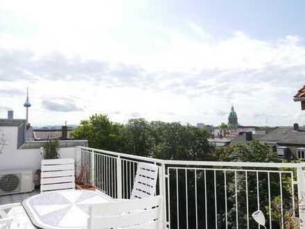 Direkt am Nationaltheater - Besondere Stadtwohnung mit großer Sonnenterrasse und Panoramablick!